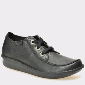 Pantofi CLARKS negri, 306639, din piele naturala