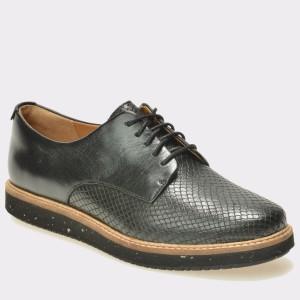 Pantofi CLARKS negri, 6125092, din piele naturala