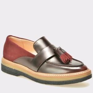 Pantofi CLARKS visinii, 6126673, din piele naturala