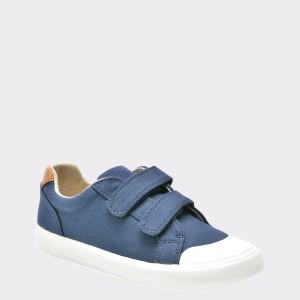 Pantofi pentru copii CLARKS bleumarin, 6133335, din canvas