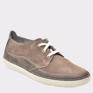 Pantofi CLARKS gri, 6132564, din piele intoarsa