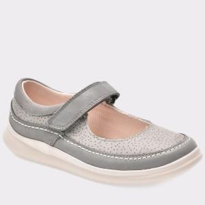 Pantofi pentru copii CLARKS gri, 6131708, din piele naturala