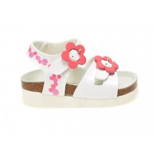 Sandale pentru copii LA COMPANIA NATURAL albe, 31893, din piele ecologica