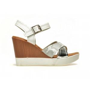 Sandale IMAGE albe, 60770, din piele ecologica