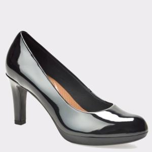 Pantofi CLARKS negri, 6129360, din piele ecologica