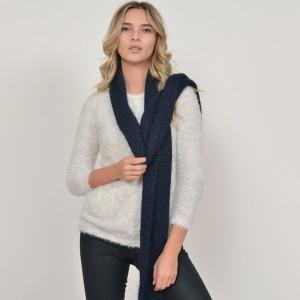 Fular KLOP bleumarin, 937278B, din material textil