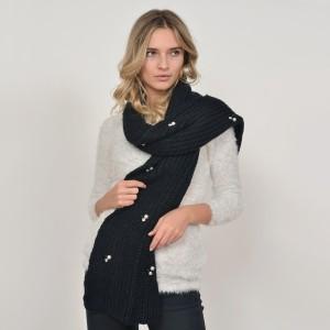 Fular KLOP negru, 937277B, din material textil