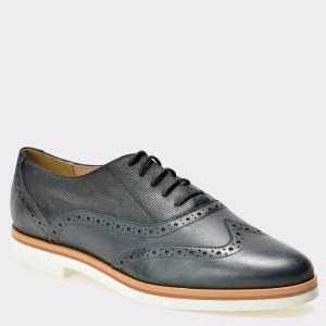 Pantofi GEOX negri, D725Ag, din piele naturala