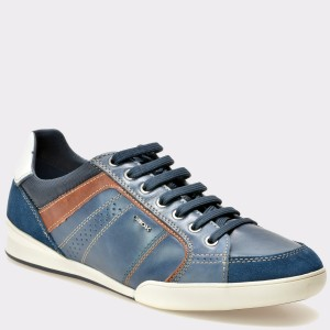 Pantofi GEOX albastri, U620Ea, din piele naturala