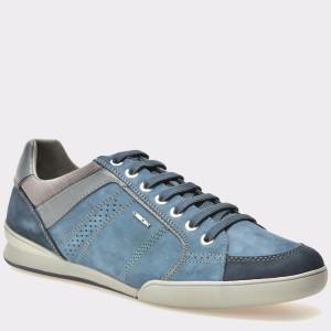 Pantofi GEOX bleumarin, U620Ea, din piele intoarsa
