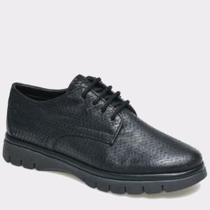 Pantofi The Flexx negri, din piele naturala