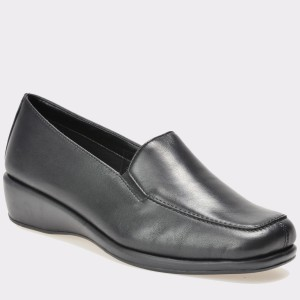 Pantofi THE FLEXX negri, Hugegra, din piele naturala
