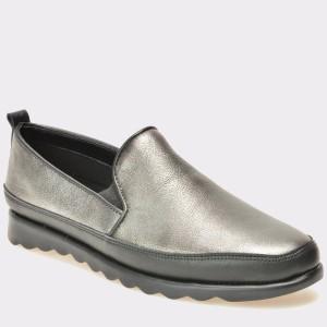 Pantofi THE FLEXX argintii, Chakie, din piele naturala