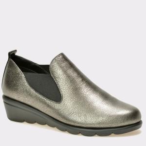 Pantofi THE FLEXX gri, Bomeran, din piele naturala