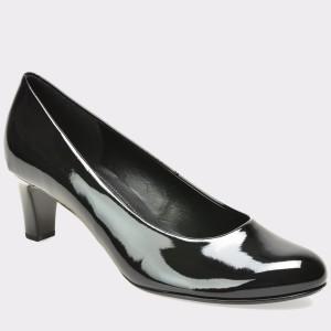 Pantofi GABOR negri, 75200, din piele ecologica lacuita