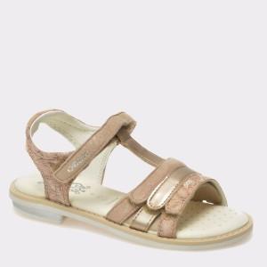 Sandale pentru copii GEOX bej, J62E2A, din piele intoarsa