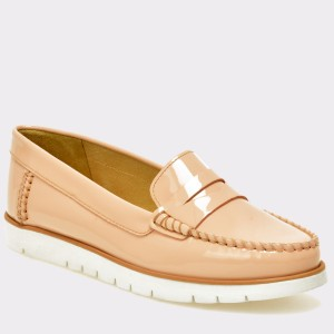 Pantofi mocasini GEOX roz, D724Pf, din piele naturala