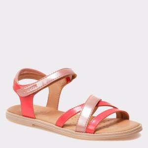 Sandale pentru copii GEOX bej, J5235D, din piele ecologica