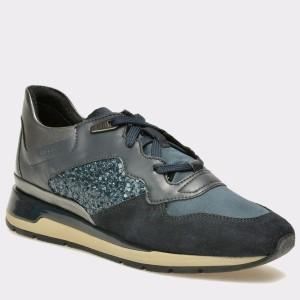Pantofi sport GEOX bleumarin, D62N1B, din piele naturala