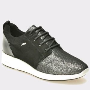Pantofi GEOX negri, D621Ca, din piele intoarsa