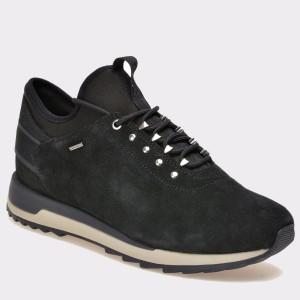 Pantofi sport GEOX negri, D743Fa, din piele intoarsa