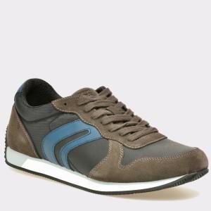 Pantofi GEOX maro, U742Lc, din piele intoarsa