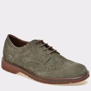 Pantofi GEOX gri, U54L9A, din piele intoarsa