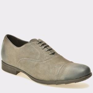 Pantofi GEOX gri, U641Xb, din piele intoarsa