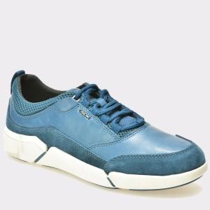 Pantofi GEOX albastri, U641Qa, din piele intoarsa