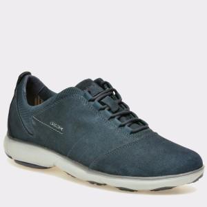 Pantofi GEOX bleumarin, U74D7C, din piele intoarsa