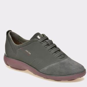 Pantofi GEOX gri, D641Eg, din piele intoarsa