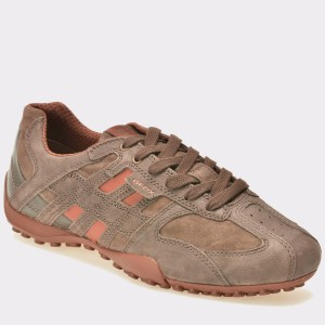 Pantofi GEOX maro, U4207K, din piele intoarsa
