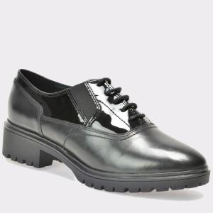 Pantofi GEOX negri, D640Gh, din piele naturala