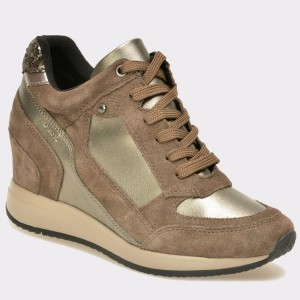 Pantofi sport GEOX maro, D540Qa, din piele ecologica