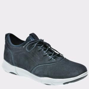 Pantofi GEOX bleumarin, U825Ad, din piele intoarsa