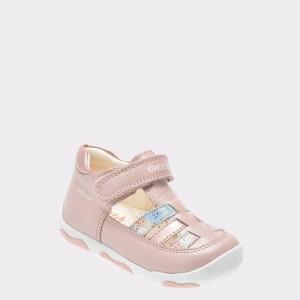 Pantofi pentru copii GEOX nude, B820Qa, din piele naturala