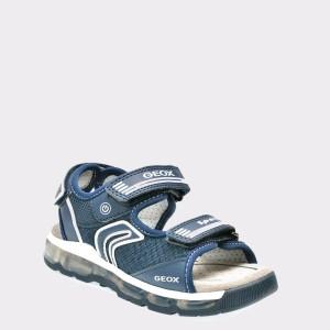 Sandale pentru copii GEOX bleumarin, J820Qa, din piele ecologica