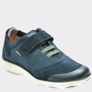 Pantofi sport pentru copii GEOX bleumarin, J641Ta, din nabuc