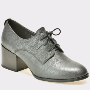 Pantofi EPICA gri, 412, din piele naturala