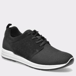 Pantofi IMAC negri, 71151, din material textil