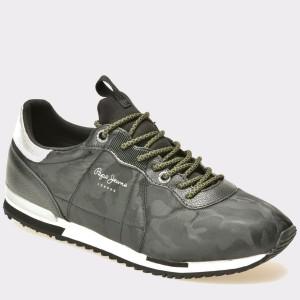 Pantofi PEPE JEANS negri, Ms30379, din material textil