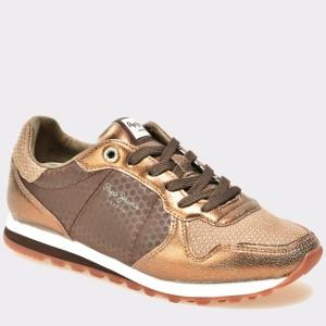 Pantofi PEPE JEANS aurii, Ls30537, din piele naturala