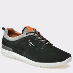 Pantofi PEPE JEANS negri, Ms30389, din piele intoarsa