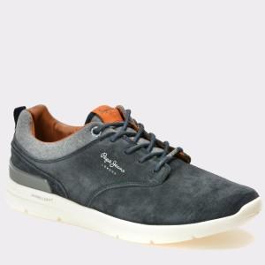 Pantofi PEPE JEANS bleumarin, Ms30389, din piele intoarsa