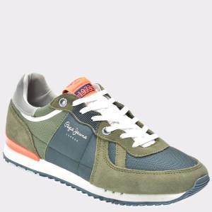 Pantofi sport PEPE JEANS kaky, Ms30415, din material textil