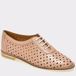 Pantofi OTTER roz, 14001, din piele naturala