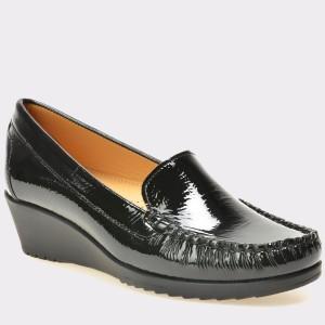Pantofi OTTER negri, 2200, din piele naturala lacuita
