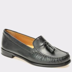 Pantofi mocasini OTTER negri, 7002, din piele naturala