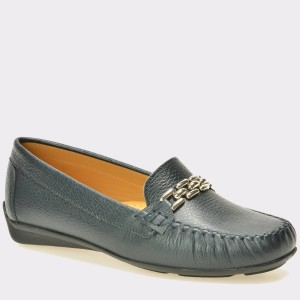 Pantofi mocasini OTTER bleumarin, 9001, din piele naturala