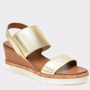 Sandale IMAGE aurii, 7907, din piele naturala